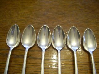 6 Rogers 1930 Adoration Pattern Teaspoons Is Silverplate Flatware photo