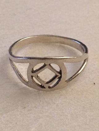 Vintage Sterling Silver Ring 925 - See Pix For Size & G photo