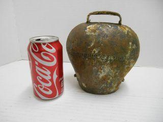 Primitive Antique Copper Cow Bell 7