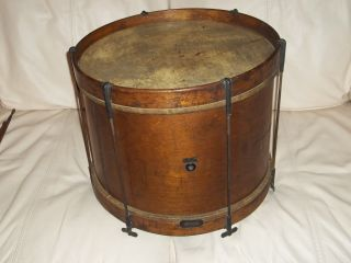 Early Antique Ludwig Wood Snare Drum photo