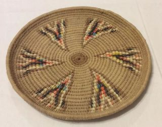 Native American Style,  Flat Plate,  Or Basket,  In photo