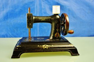 Antique French (toy) Sewing Machine Baby,  J.  C.  Made In France,  C.  1890 - 1910 photo