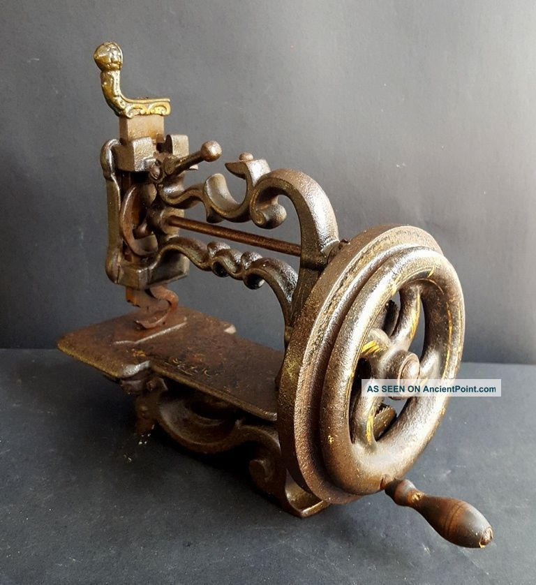 Early 1860s Rare Cast Iron Charles Raymond Hand Cranked Sewing Machine,  France Other Antique Sewing photo