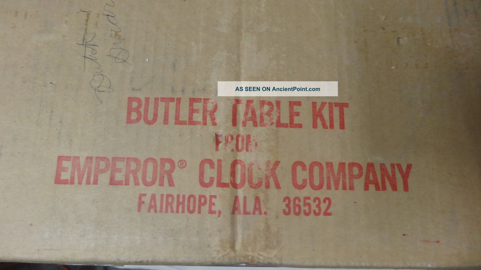 Vintage Unfinished Emporer Clock Co Butler Tray Table Nib Kit Ec - 2562 Unknown photo
