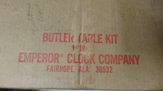 Vintage Unfinished Emporer Clock Co Butler Tray Table Nib Kit Ec - 2562 photo