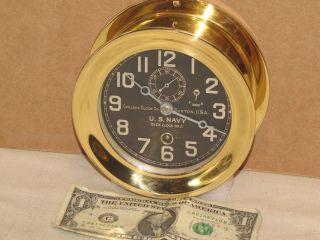 Chelsea Antique U.  S.  Navy Deck Clock 4