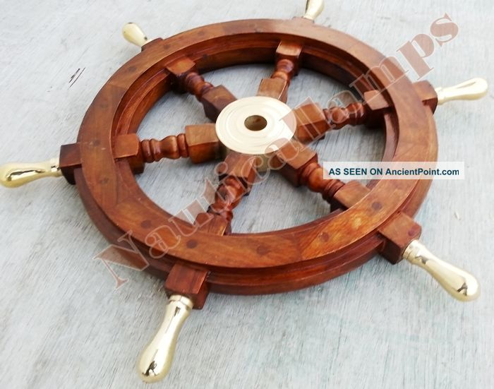 Vintage Style Nautical Ship Decor Boat Wheel 18