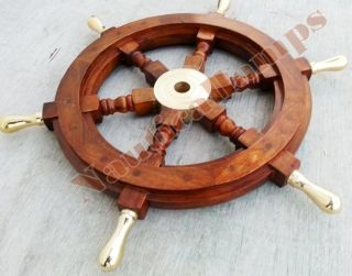 Vintage Style Nautical Ship Decor Boat Wheel 18