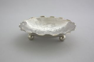 Silver Dish By Wai Kee 1930 photo