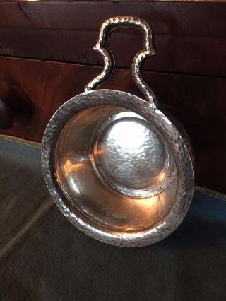 Gorham Arts & Craft Hand Hammered Sterling Silver Porringer A1772 No Mono photo