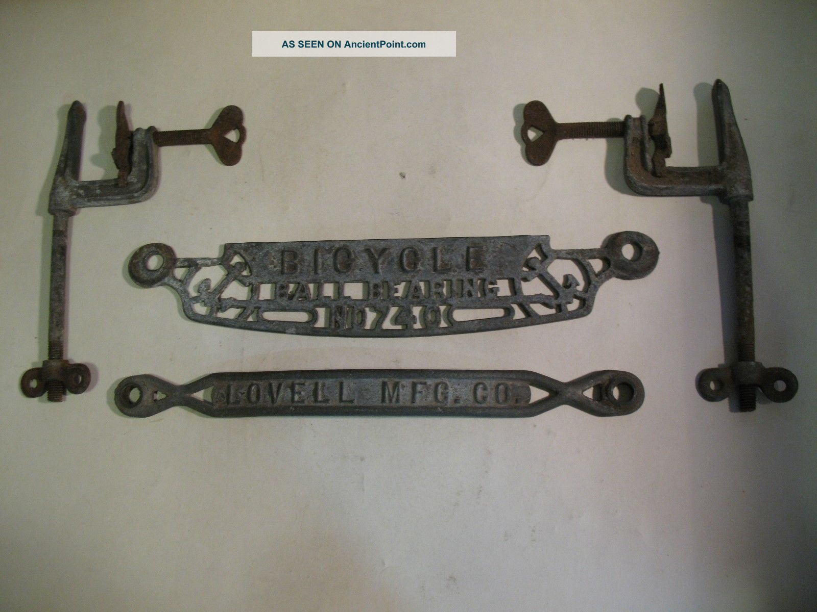1900s Washing Machine Wringer Signs/parts Bicycle 740 Lovell Mfg Co Clamps Washing Machines photo