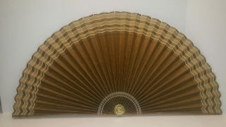 Vintage Air Line Mfg Co Paper Fireplace & Background Fan 1940's Carmen Ind.  Gold photo