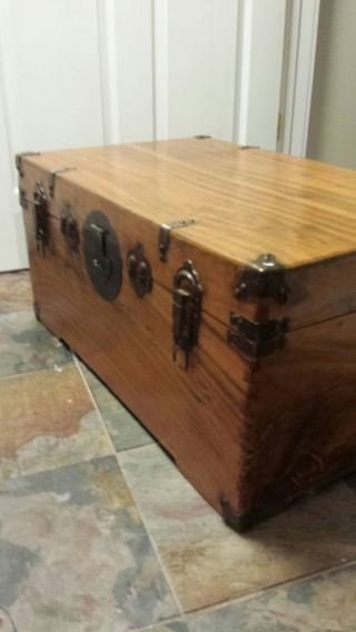 Antique Wood Trunk,  19