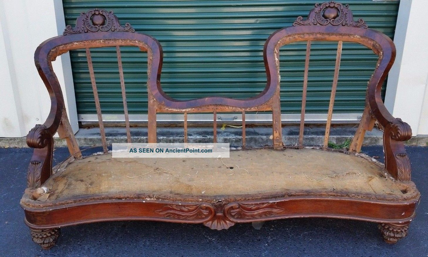 Antique Victorian Mahogany Sofa Frame Dawn Langley Hall Simmons Middleton Place 1800-1899 photo
