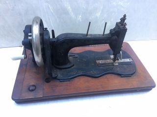 Clemens Muller Vintage Antique Rare Hand Crank Sewing Machine photo
