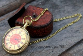The Beatle Finder 1964 Brass Pocket Watch Collectible Nautical Watch Friend Gift photo