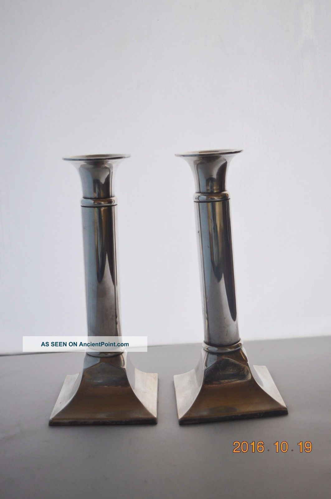 Matching Silver Candlesticks Parks Of London Shabbat Candlesticks Candlesticks & Candelabra photo