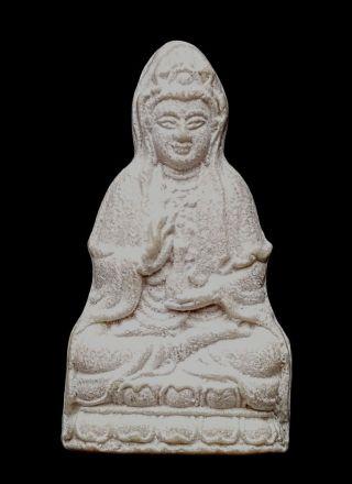 Guanyim Avalokiteshvara Bodhisatva Wat Bawon Be2531 Holy Powderthai Amulet photo