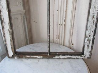 Awesome Old Vintage Arched Church Window Frame Chippy White Wood Frame photo