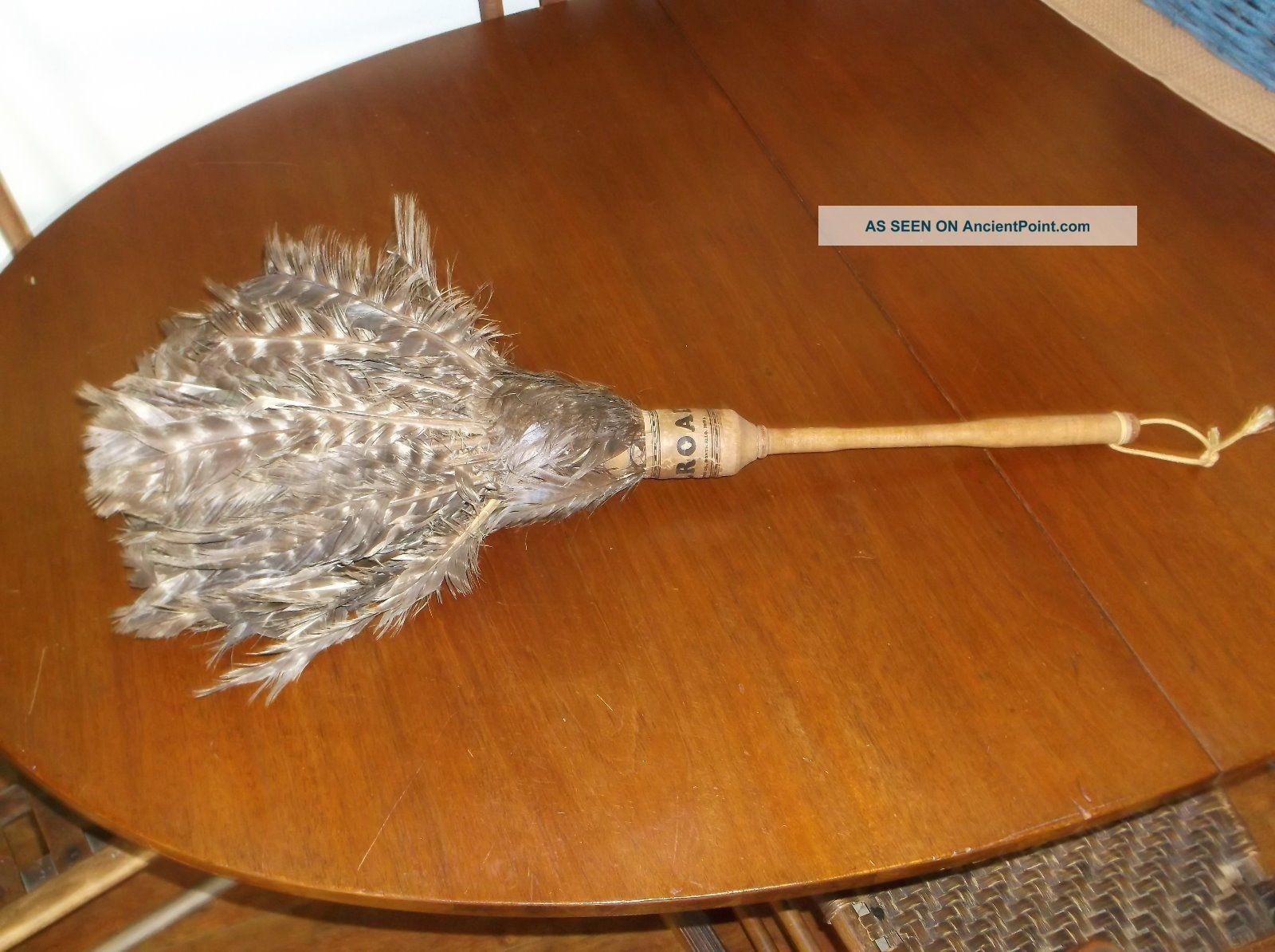 Antique 1930 ' S Railroad Turkey Feather Duster Hoag Duster Co Hearth Ware photo