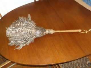 Antique 1930 ' S Railroad Turkey Feather Duster Hoag Duster Co photo