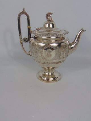 Fine English Solid Silver Coffee Pot In Classical Style - 878g - 28.  23 Troy Oz. photo