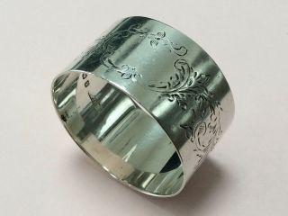 Antique Sterling Silver Napkin Serviette Ring 1921 photo