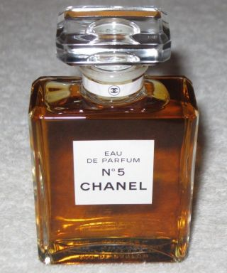 Vintage Perfume Bottle Chanel No 5 Edp,  50 Ml - 1.  7 Oz - Open - Full photo