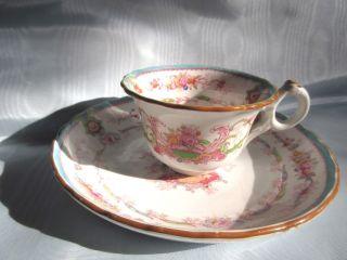 Cauldon Aqua Souvenir H9120 England Demitasse Tea Cup And Under Plate/saucer B photo