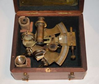 Kelvin And Hughes - English - 1917 Sextant Nautical Device photo