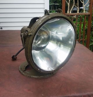 Vintage Crouse - Hinds Nautical Spotlight 500w Brass & Aluminum Perfect photo