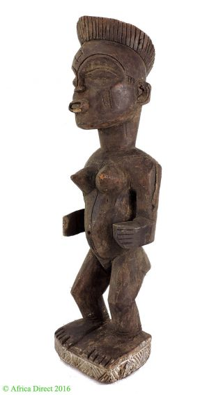 Chokwe Female Carving Congo African Art Was $69 photo