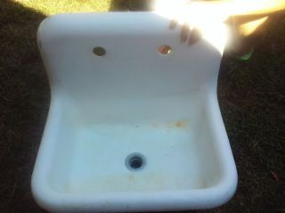 Antique Cast Iron Farm Sink By Kohler Rolled Rim Vintage 1920 ' S photo