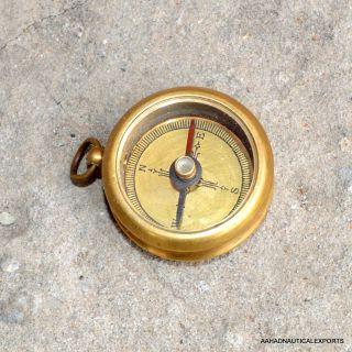 1918 Kelvin & Hughes London Brass Compass Antique Compass Gift Kcompass Mini photo