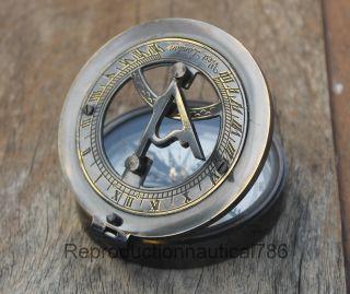 Marine Brass Compass,  Nautical Instrument Astrolabe Ship Maritime Gift photo