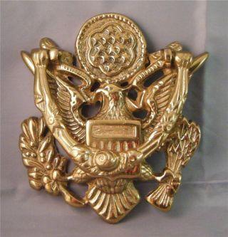 Vintage Nos Heavy Solid Brass Us Seal Patriotic American Eagle Door Knocker  6