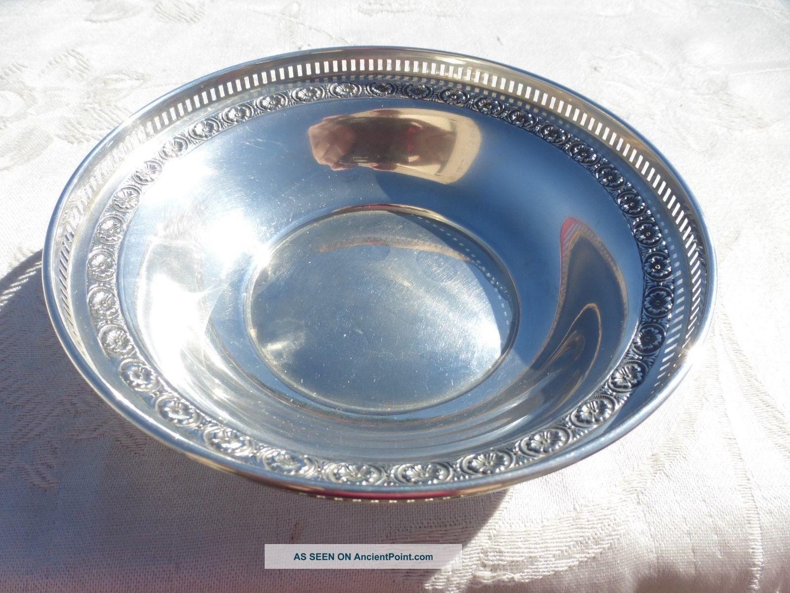 Vintage Sterling Silver Bowl Open Edge Work Workmanship Bowls photo