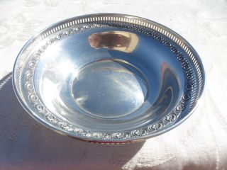 Vintage Sterling Silver Bowl Open Edge Work Workmanship photo