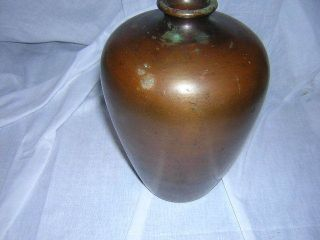 Antique 20th C Clewell Copper Clad Arts & Crafts Art Pottery Vase photo