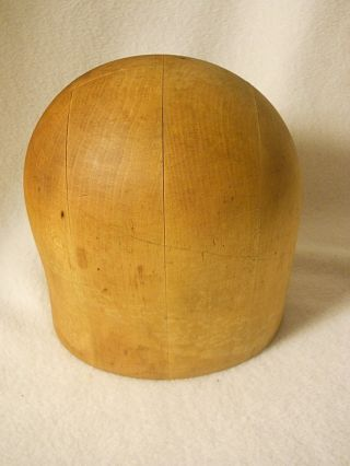 Old Wooden Hat Form - Hat Mold - Hat Display - Size 20 - Millinery Hat Form photo