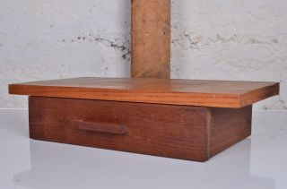 Danish Floating Mid Century Shelf Furniture Modern Drawer Teak Nightstand photo