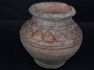 Ancient Teracotta Painted Pot With Animals Indus Valley 2500 Bc Pt15398 photo