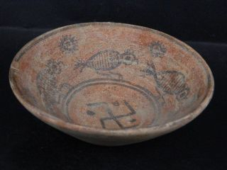 Ancient Large Size Teracotta Painted Pot With Bird Indus Valley 2500 Bc Pt15395 photo