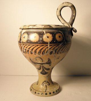 Heraklion Museum Copy 1500 Bc Roman Greek Vessel Signed With Tag Vase Urn photo