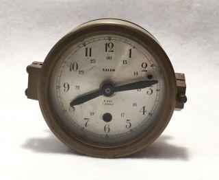 Salem Brass 8 Day 7 Jewels Nautical Or Ship ' S Clock - Switzerland photo