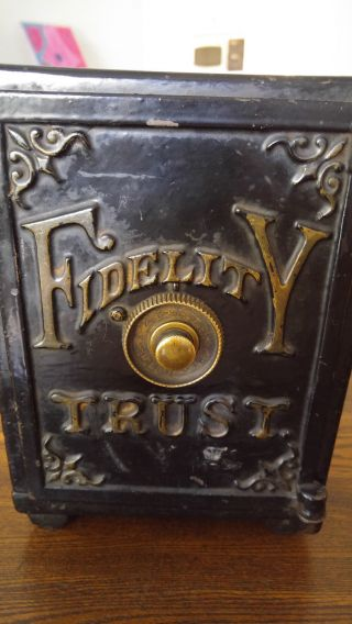 Antique Fidelity Trust Iron Safe Henry C Hart 1885,  9