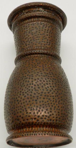 Antique Arts And Crafts Hammeredque Copper Vase photo