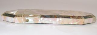 Antique Mother Of Pearl & Abalone Spectacles Case Etui Ca.  1850 photo