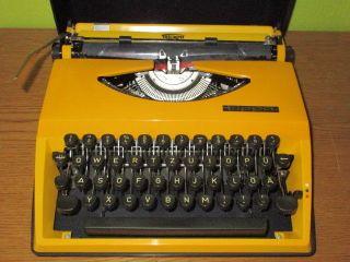 (ta) Adler Tippa Typewriter Orange/yellow Pop - Art Design Panton Era 70`s photo