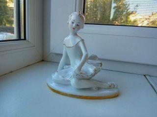 Antique Ussr Russian Lfz Lomonosov Porcelain Figurine Young Ballet Girl 4308u photo